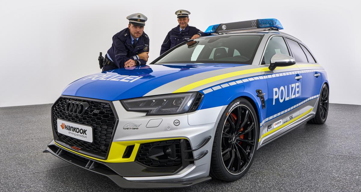 Audi RS4-R Polizei par ABT : la police roule des mécaniques