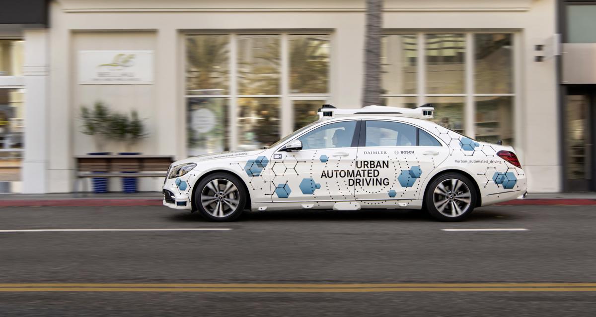 Voiture autonome : Mercedes-Benz et Bosch en bonne voie aux States