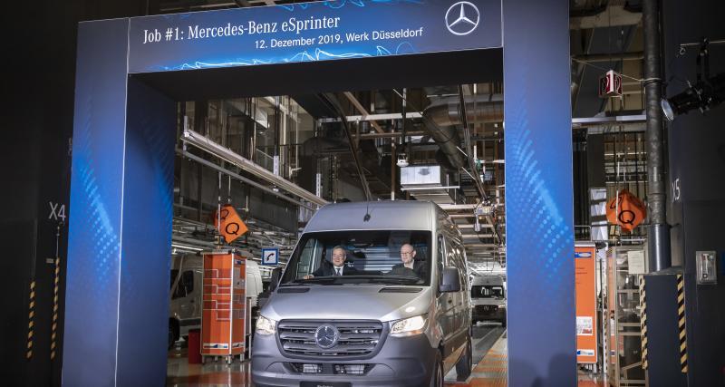 Mercedes eSprinter : lancement de la production à Düsseldorf