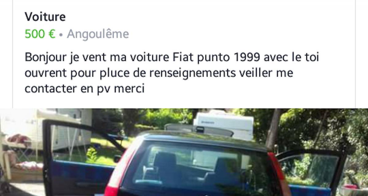 Vente de voiture sur Internet : l'annonce qui pique (vraiment) les yeux !