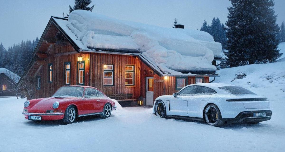 La Porsche Taycan testée en conditions de grand froid