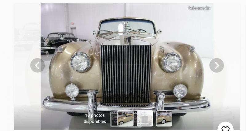 Leboncoin : une Rolls-Royce Silver Cloud I de Golden boy à vendre pour 537.000 €