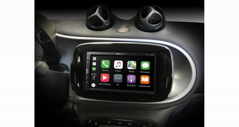 Un autoradio CarPlay et Android Auto pour les Smart chez Pioneer