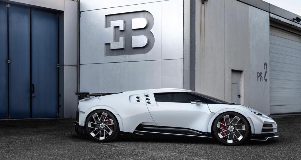 Une Bugatti Centodieci exposée à l'aéroport de Strasbourg