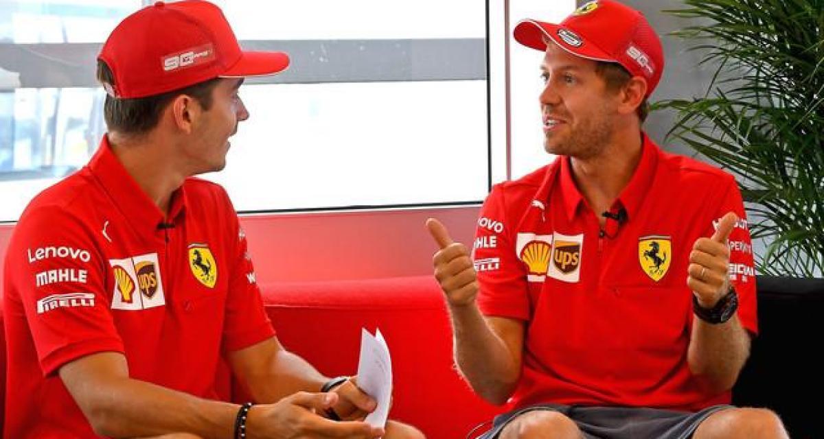 """Leclerc à propos de sa relation avec Vettel : """"nous sommes assez matures pour pouvoir travailler ensemble"""""""