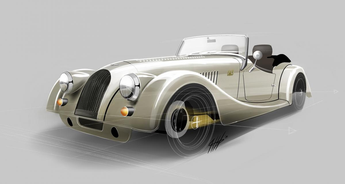 Morgan Plus 4 70th Anniversary Edition : d'or et d'acier