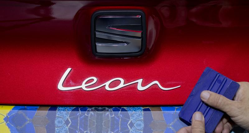 Nouvelle Seat Leon : les designers s'amusent avec le camouflage de la compacte