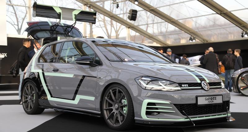 Golf 7 GTI Aurora Concept : nos photos de la compacte de 380 chevaux au Festival Automobile
