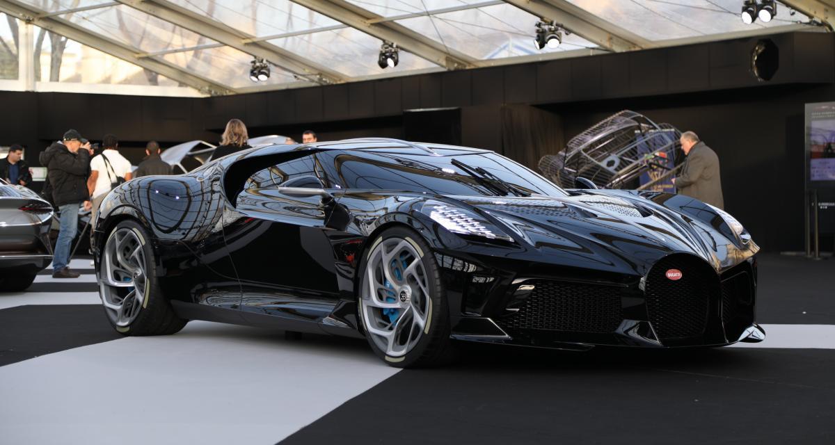 Bugatti La Voiture Noire à Paris : nos photos de l'hypercar à 17 millions d'euros
