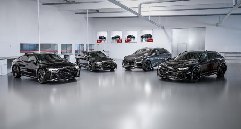 La famille Audi RS revue par ABT Sportsline : de 510 ch à 700 ch au choix