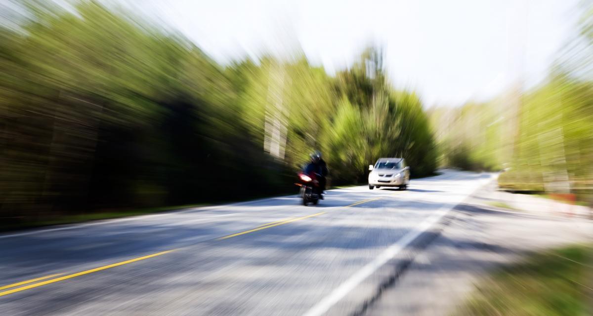 Un motard de 21 ans flashé à 175 km/h !