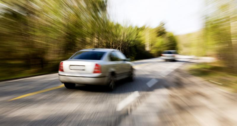 Une vitesse retenue à 134 km/h