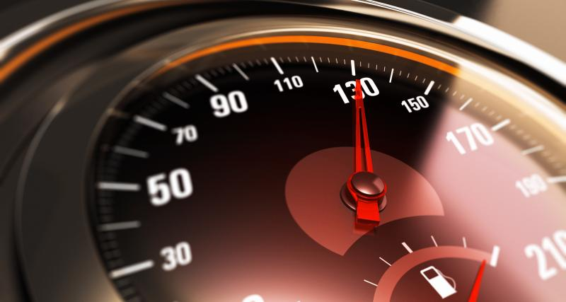 Une vitesse retenue à 131 km/h