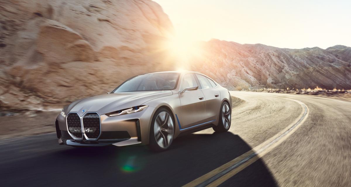 BMW Concept i4 : 600 km d'autonomie pour l'élégant coupé 4 portes électrique