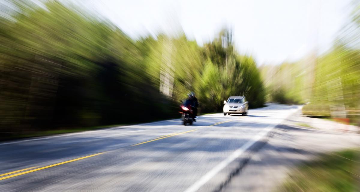 2 motards flashés en grand excès de vitesse en 10 minutes