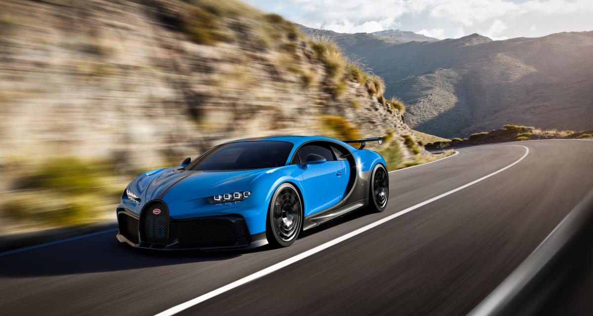 Bugatti Chiron Pur Sport : les courbes et la vitesse