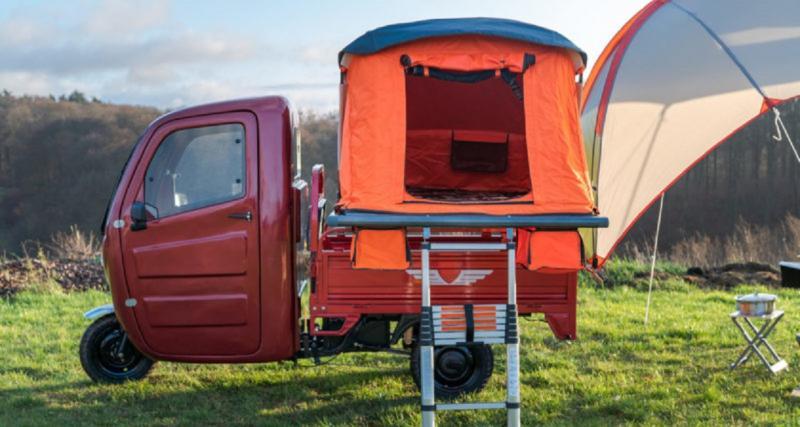 Elektro Frosch Pro Camping : le tricycle électrique qui se transforme en camping-car