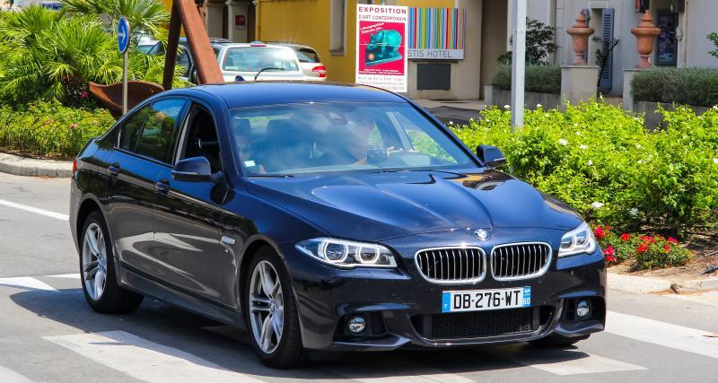 La BMW confisquée