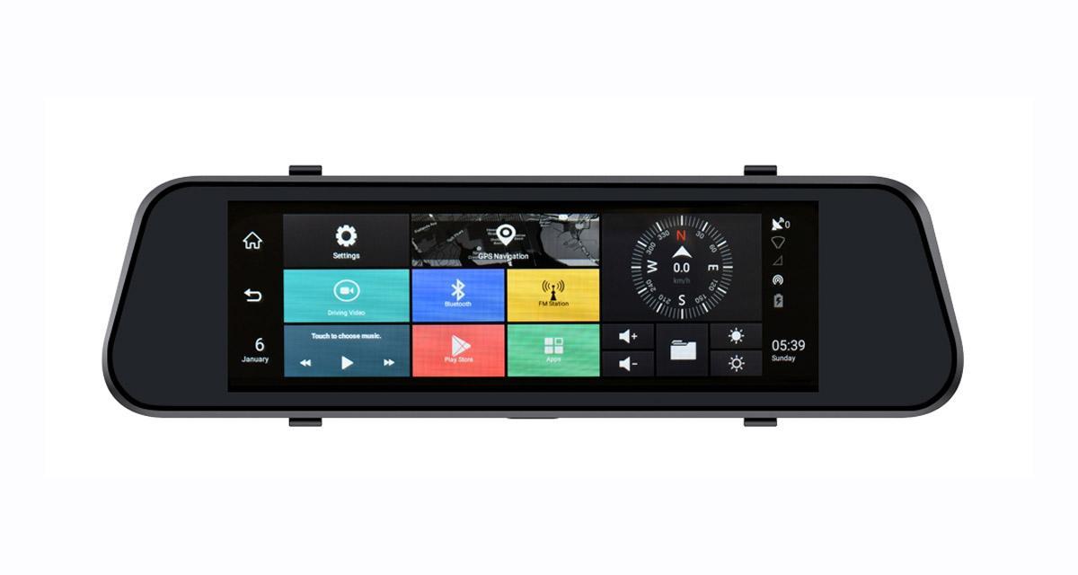 Un rétroviseur intérieur avec GPS et caméra DVR chez Phonocar