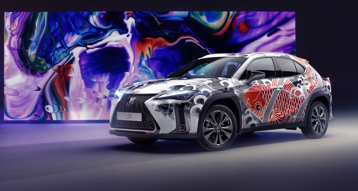 """Lexus UX by Claudia De Sabe : la première voiture """"tatouée"""""""
