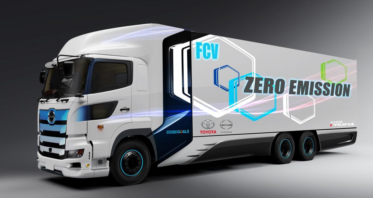 Poids lourd à pile à combustible Toyota/Hino Motors : le transport des entreprises de demain