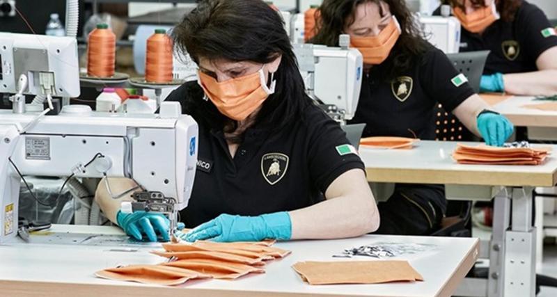 Coronavirus : même Lamborghini se met à la fabrication de masques