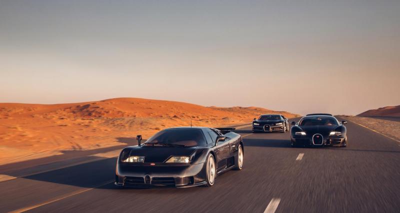 EB 110, Veyron Super Sport et Chiron: la réunion Bugatti qui fait le buzz