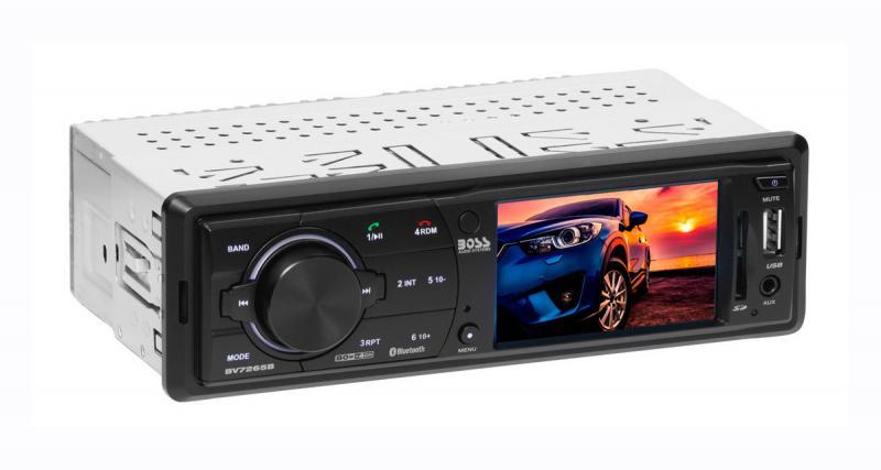 Un autoradio numérique 1 DIN avec écran en façade chez Boss Audio Systems