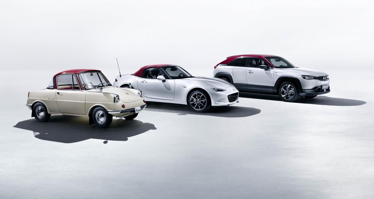 """En rouge et blanc : des Mazda """"100ème Anniversaire"""" assorties"""