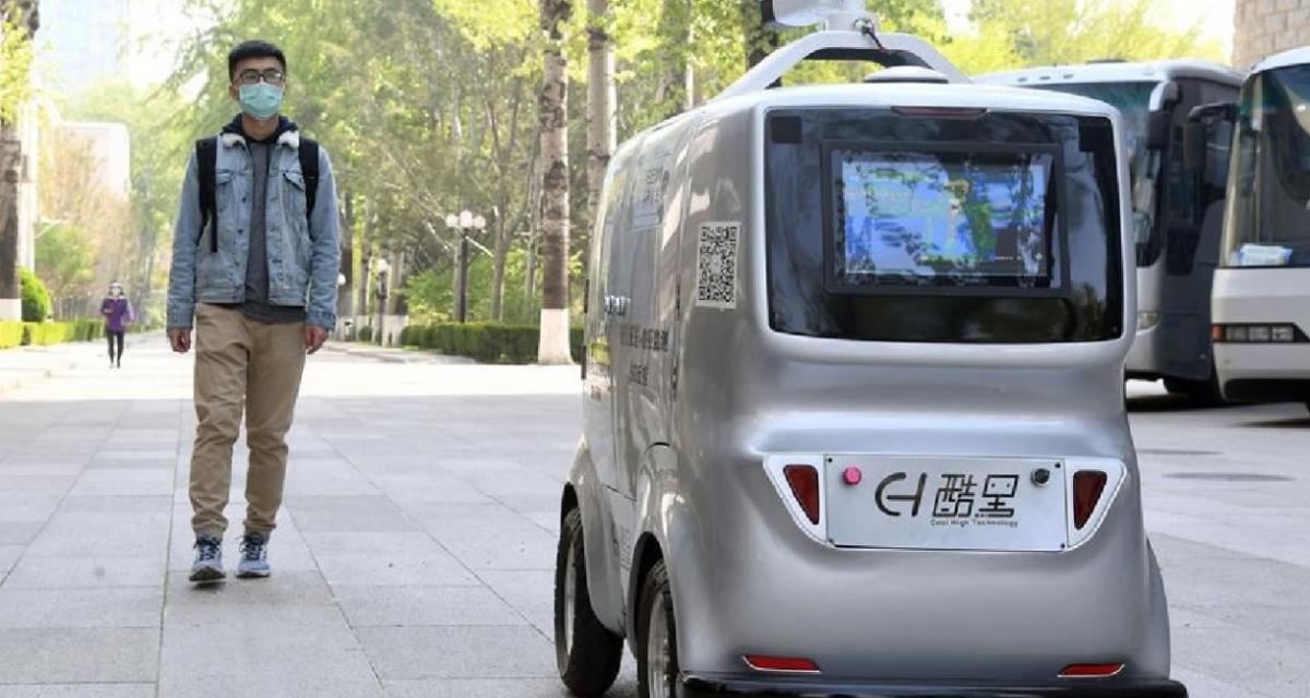 Coronavirus : une voiture autonome prend la température des gens à distance