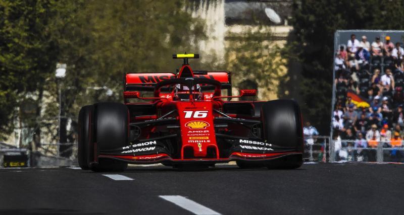 F1 : Charles Leclerc dans le mur à Bakou… même sur F1 2019