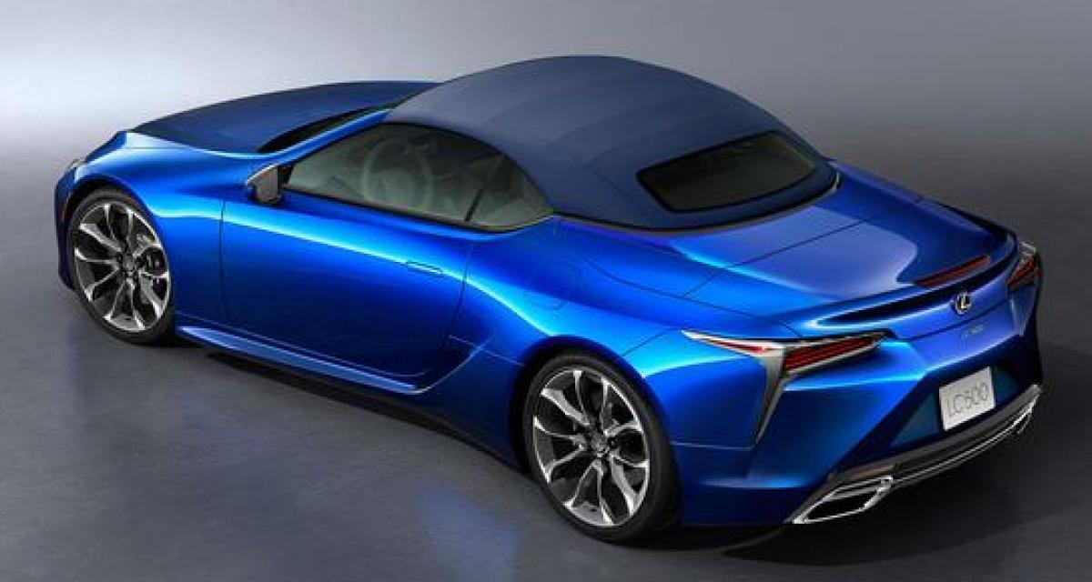 Lexus LC Cabriolet : la découvrable de luxe en détails et en couleurs