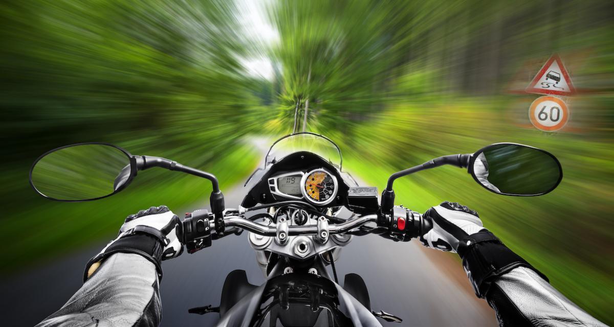 Un motard flashé 56 km/h au-dessus de la vitesse autorisée