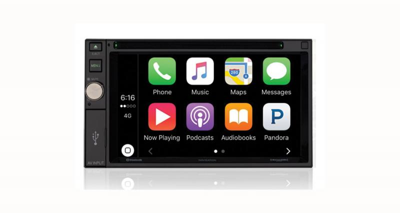 Un autoradio CarPlay avec GPS et DVD chez Voxx Electronics