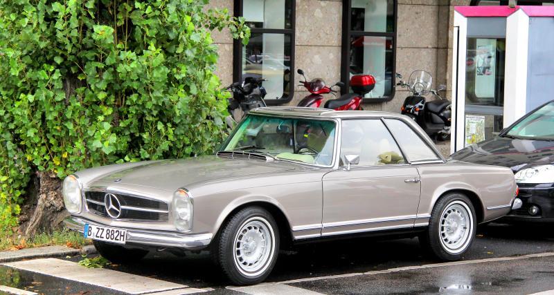 Mercedes 280 SL : sortie de son sommeil après 40 ans dans un garage !