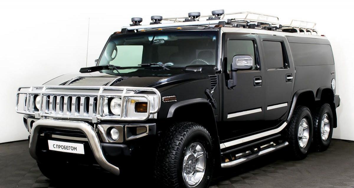 Hummer H2 6x6 : jamais trop de chrome pour ce SUV blindé