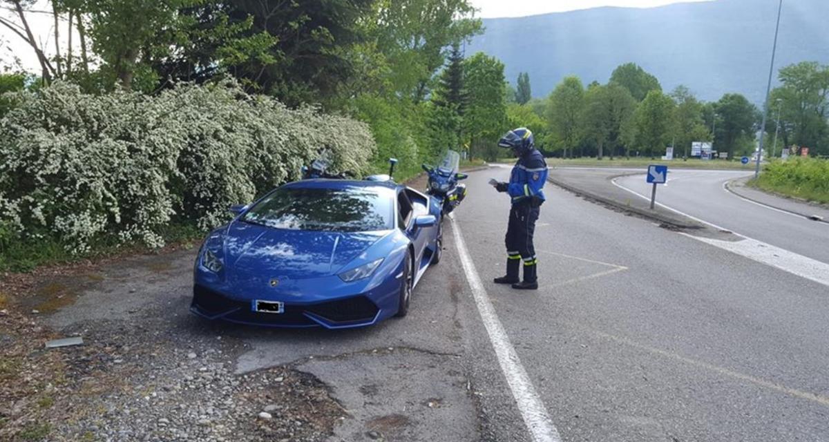 Flashé à 160 km/h sur une départementale au volant d'une Lamborghini Huracan !