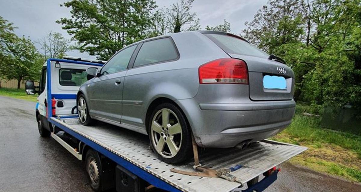 Un automobiliste en fuite en Audi A3 se fait interpeller à son domicile