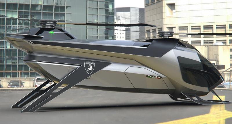 Un concept Lamborghini hélicoptère nommé Falco