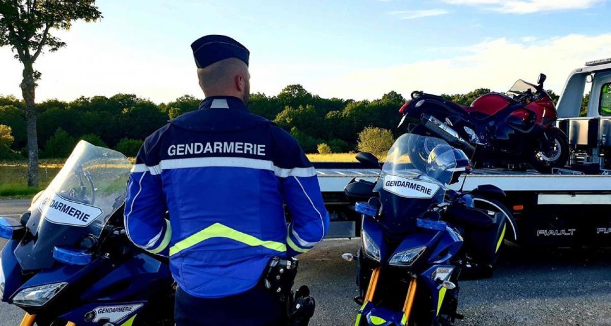 Un motard arrêté à 192 km/h au guidon sur une route limitée à 80 !