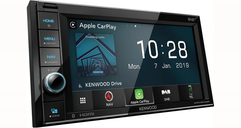 Une station multimédia CarPlay et GPS chez Kenwood-Electronics