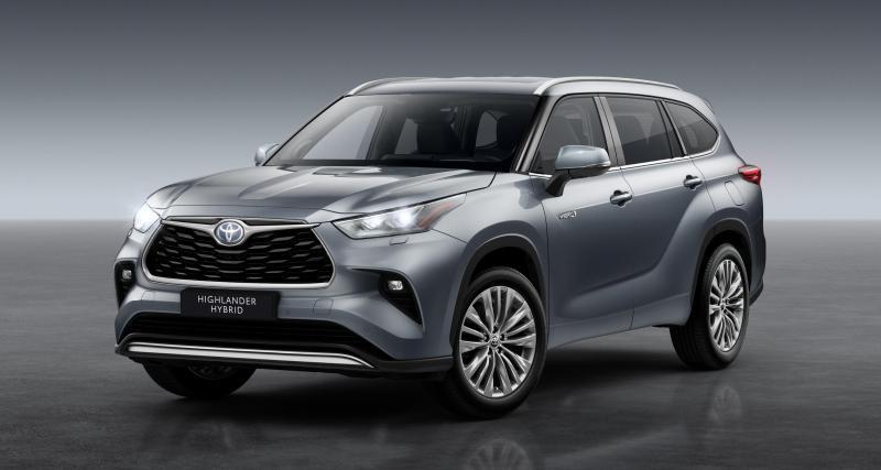 Toyota Highlander Hybride : commercialisation en Europe du SUV sept places
