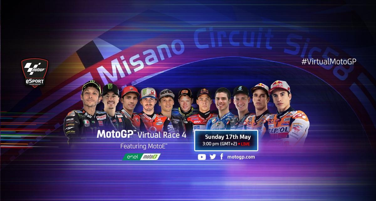 Moto GP Virtual Race 4 : Valentino Rossi sur la grille de départ