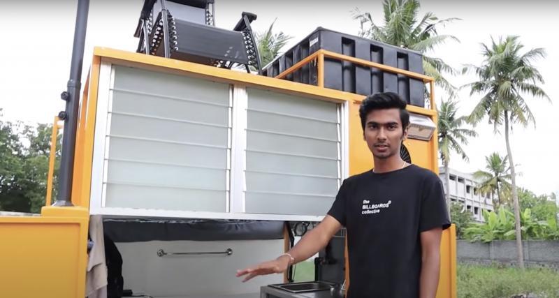 Un tuk-tuk indien transformé en camping-car