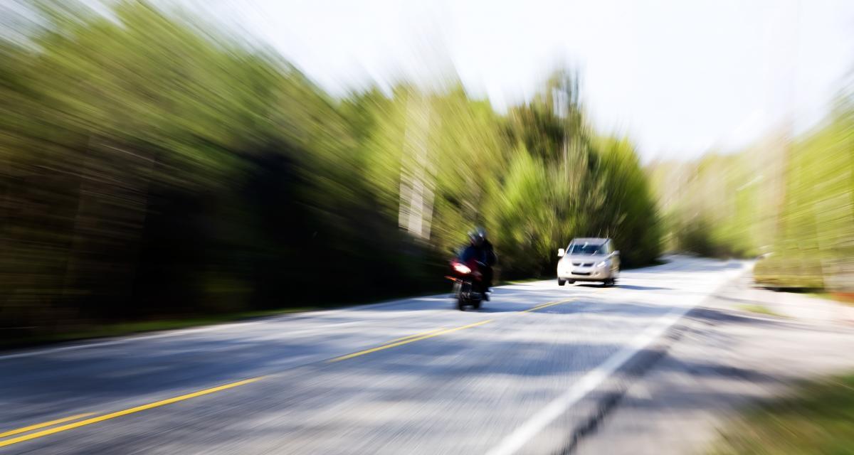 Un motard contrôlé à 164 km/h sur une départementale !