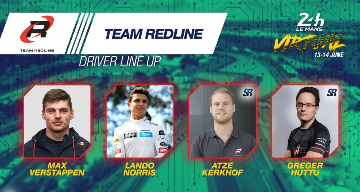 24h du Mans virtuelles : Norris et Verstappen associés