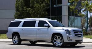 Cadillac Escalade ESV Stretch ex-Tom Brady : bureau mobile de luxe à vendre