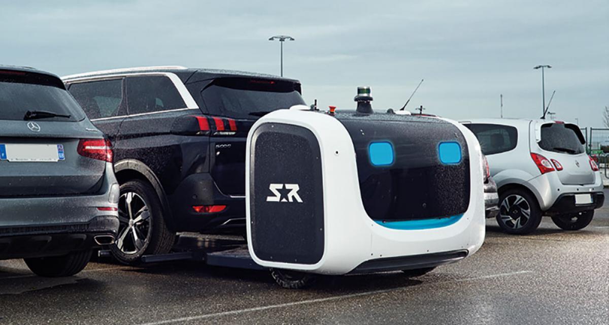 Un robot qui gare les voitures au millimètre près à l'aéroport de Lyon