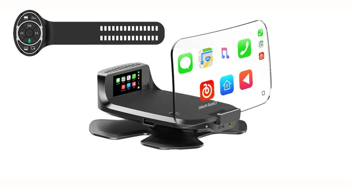 Boyo commercialise un afficheur tête-haute universel avec CarPlay et Android Auto