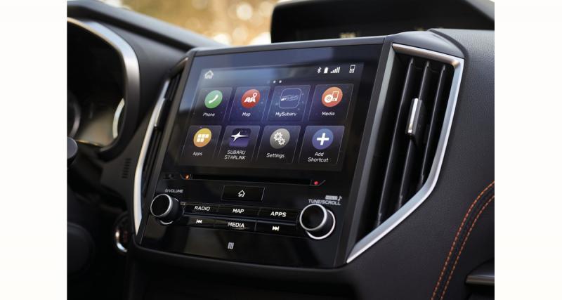 Subaru propose un système multimédia CarPlay et Android Auto sur le SUV Crosstrek